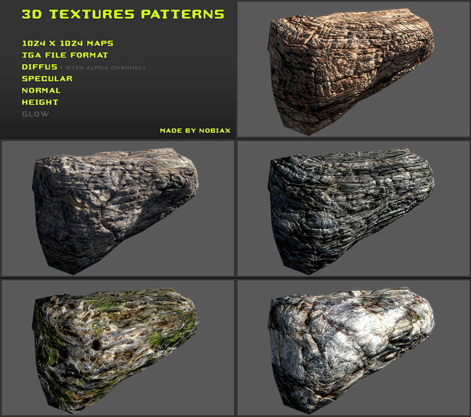 Free 3D Textures Pack 13 By Nobiax On DeviantArt