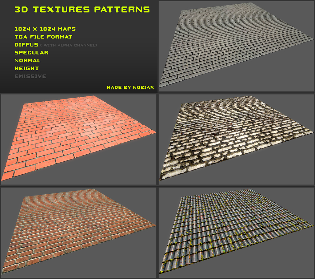 Free 3D textures pack 19