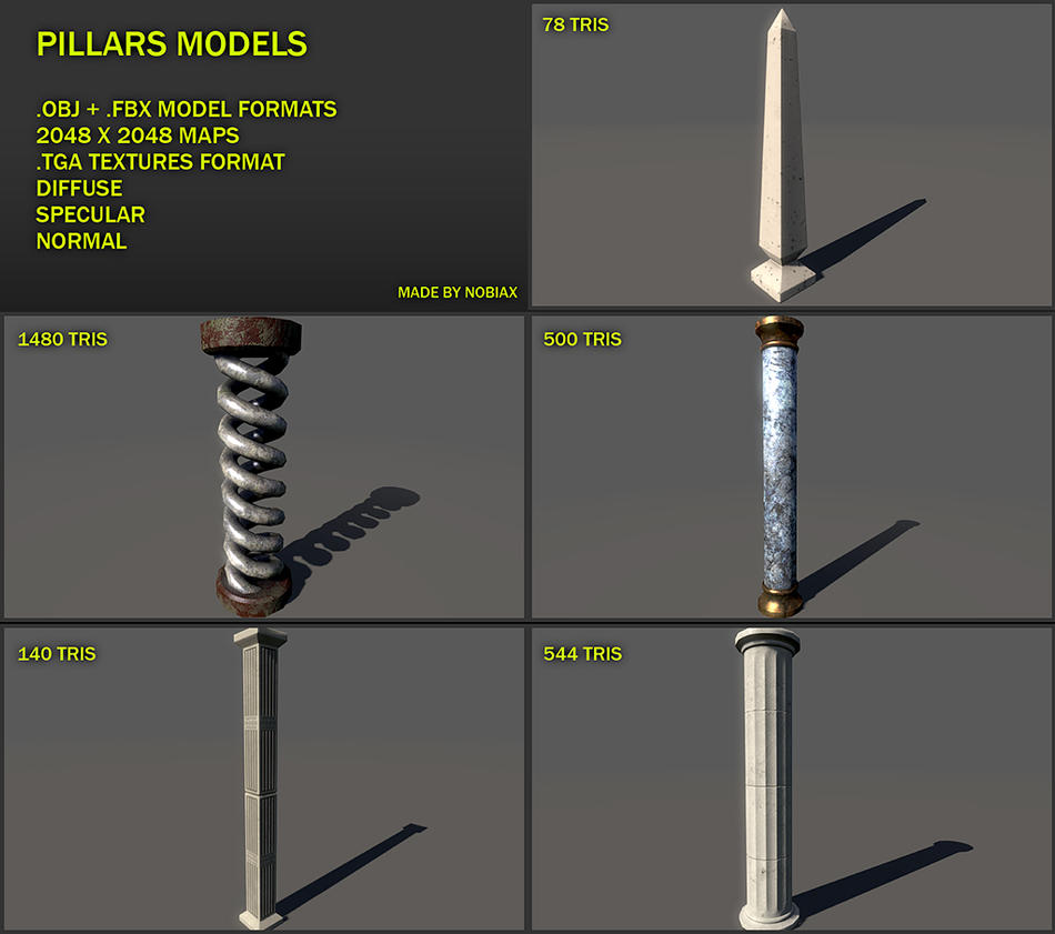 Free Pillars 01 by Nobiax