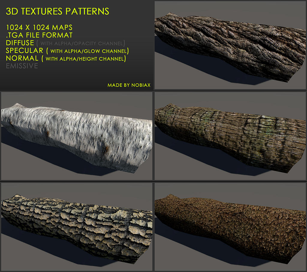 Free 3D textures pack 22 by Nobiax