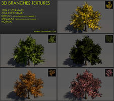Free 3D branches textures 01 by Yughues