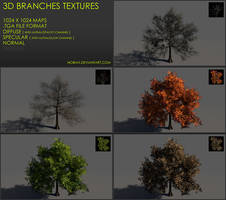 Free 3D branches textures 04
