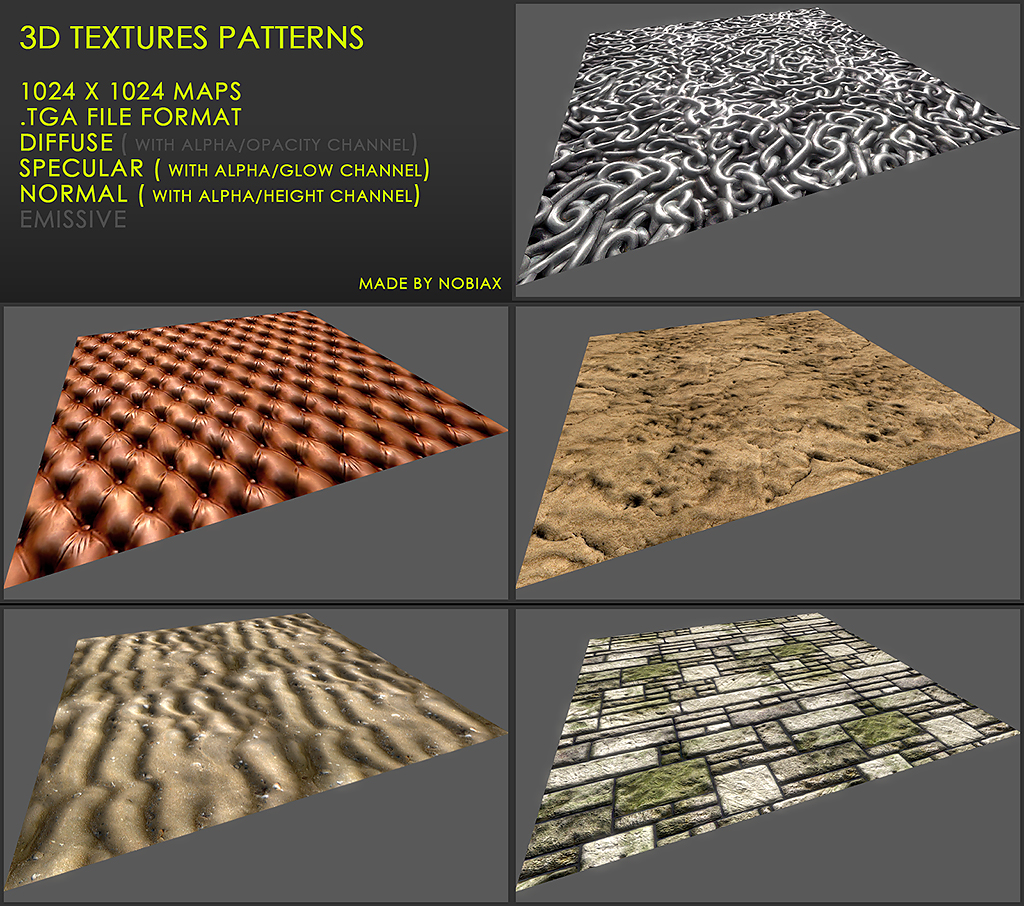 Free 3D textures pack 26