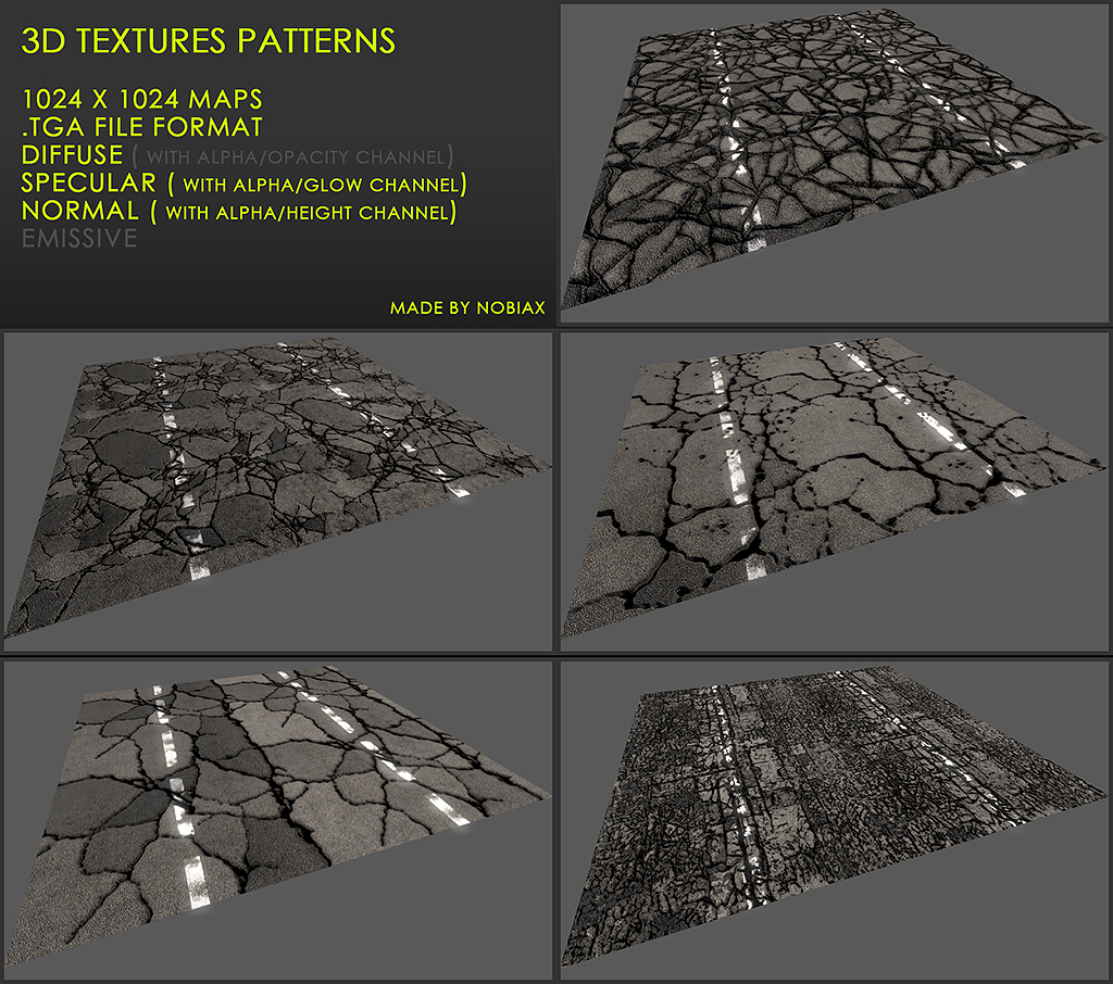 Free 3D textures pack 27