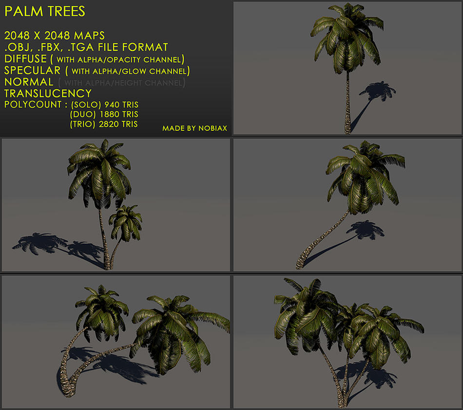 Free palm treeZ v3 by Nobiax