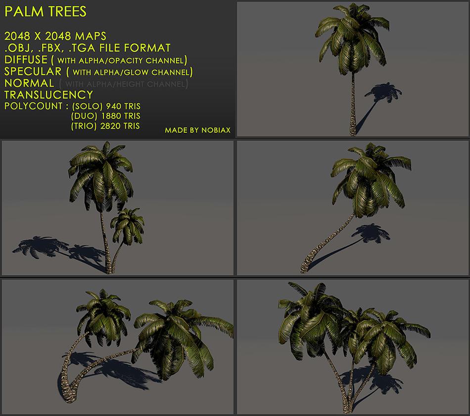 Free palm treeZ v3 by Nobiax