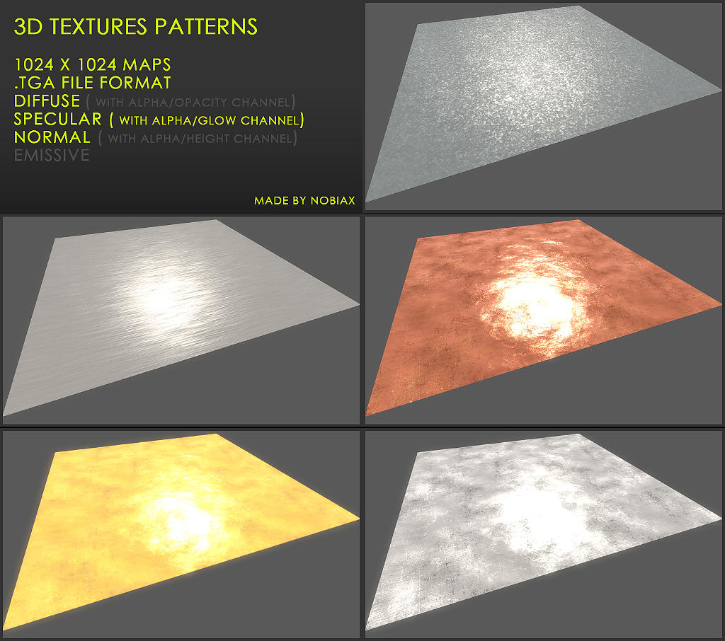 Free 3D textures pack 28 by Nobiax