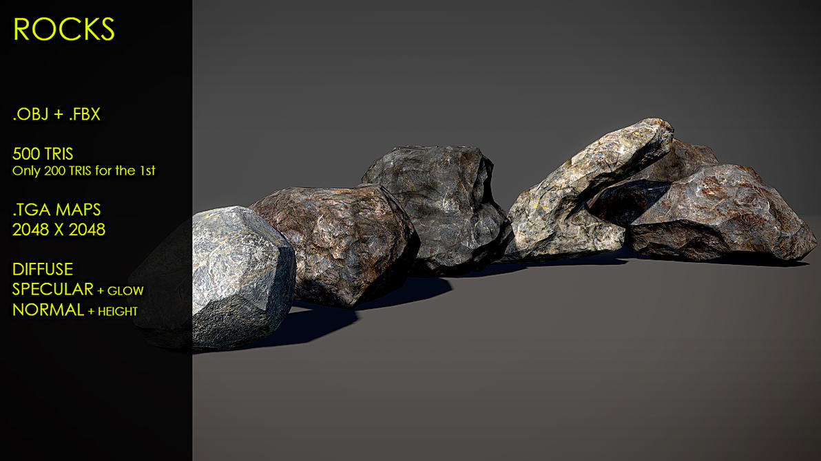 Free Rocks by Yughues