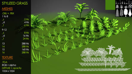 Multi Stylized Grass