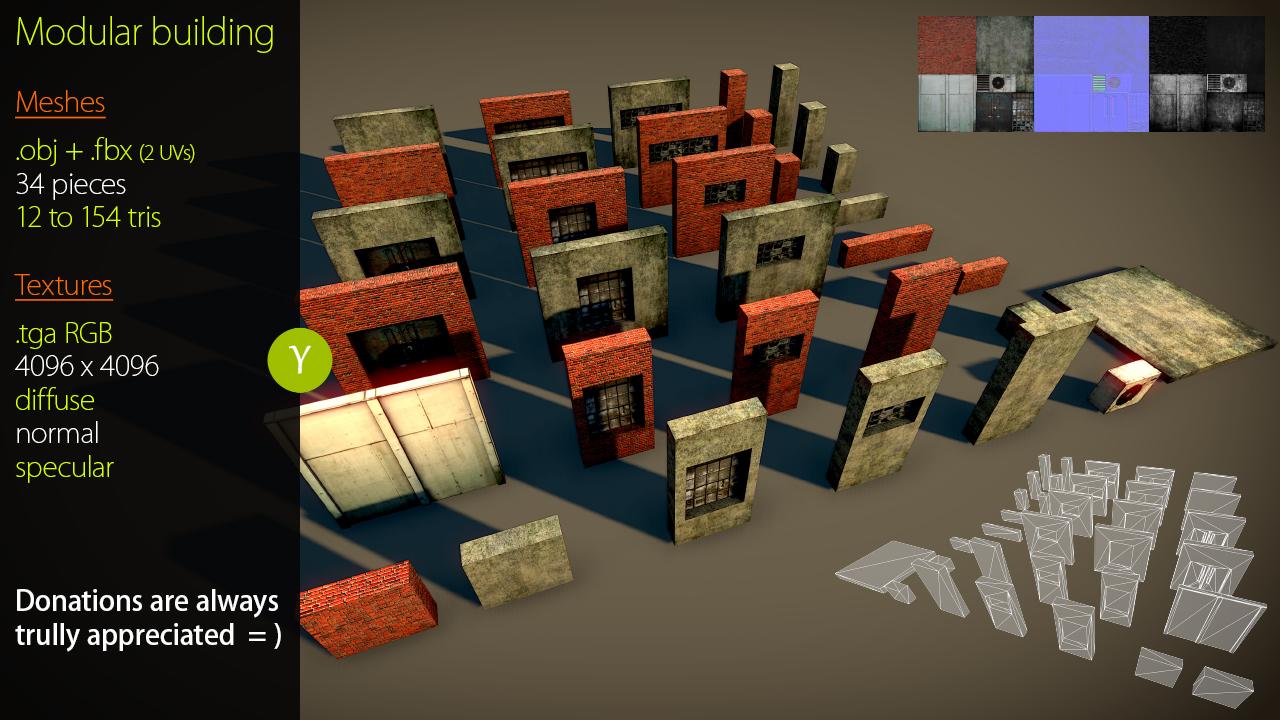 Free Modular Building asset by Yughues on DeviantArt