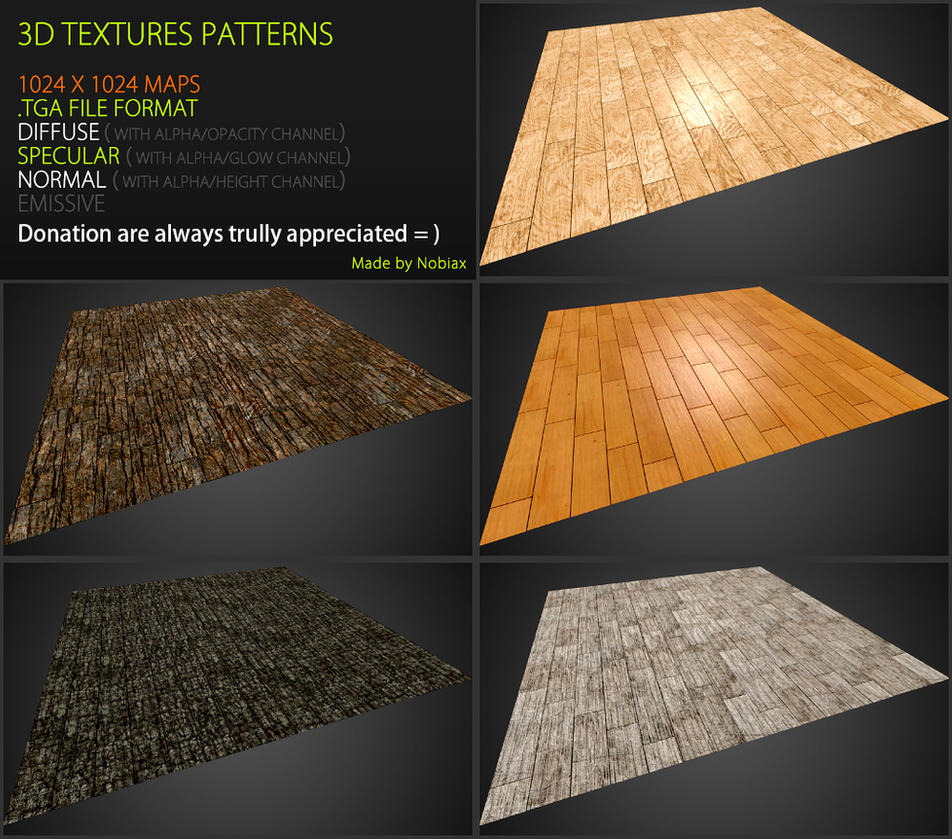Free 3D textures pack 44 by Nobiax