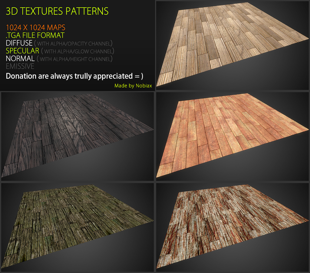 Free 3D textures pack 45