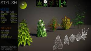 Stylish plants by Yughues