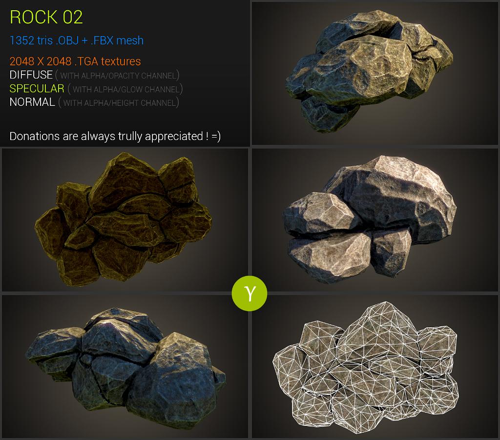 Rocks 02 by Yughues