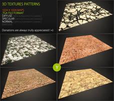 3D pattern 55 by Yughues
