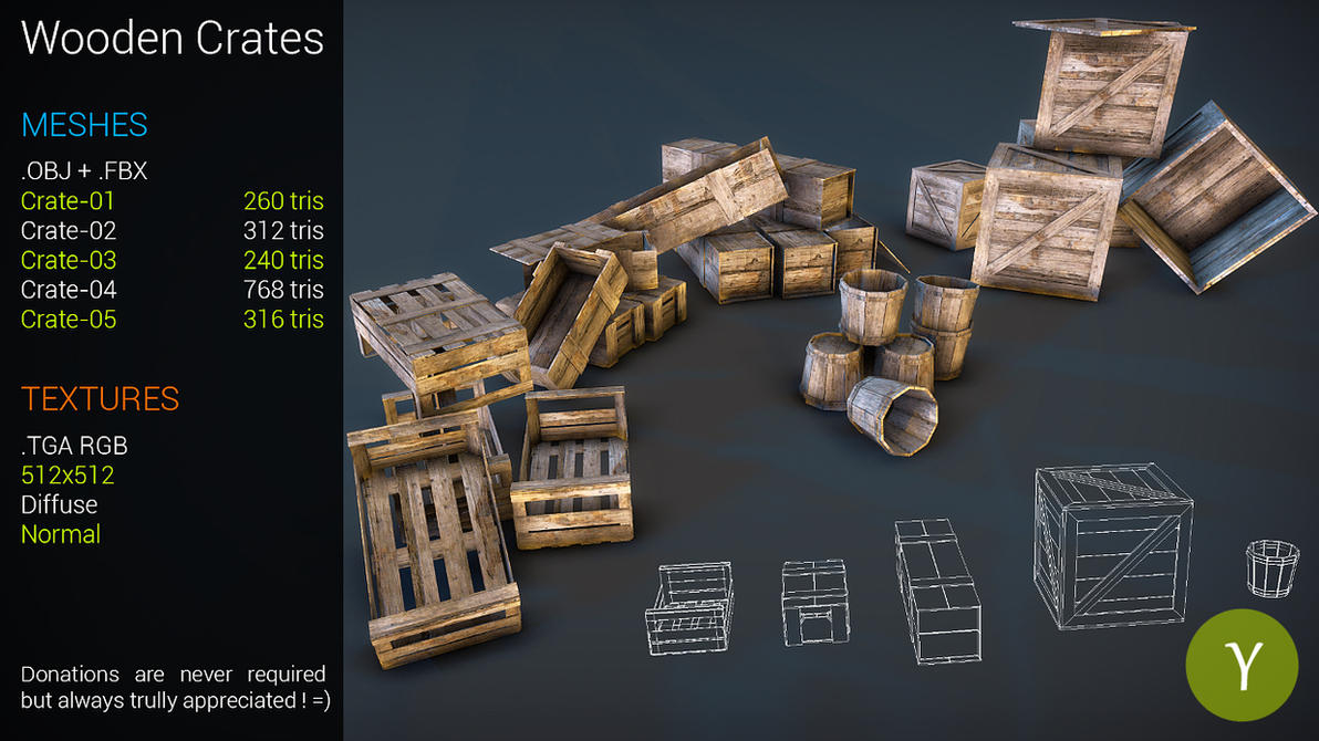 Free Wooden Crates by Nobiax