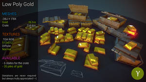 Free LowPoly Golds