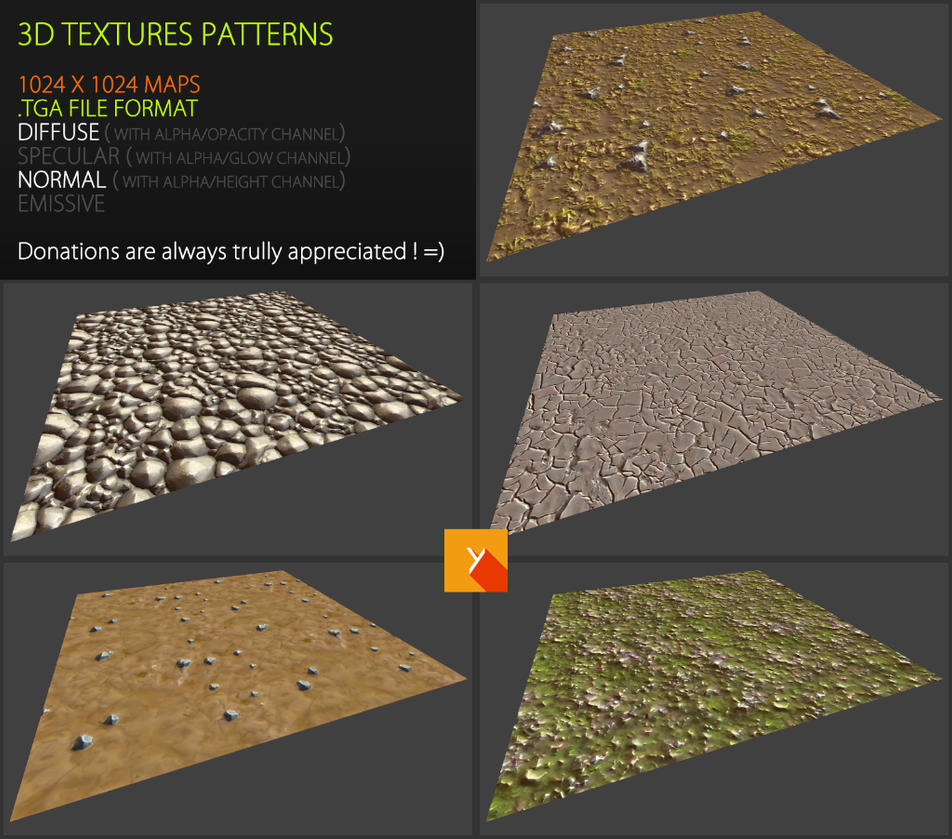 Free Textures Pack 64 by Yughues