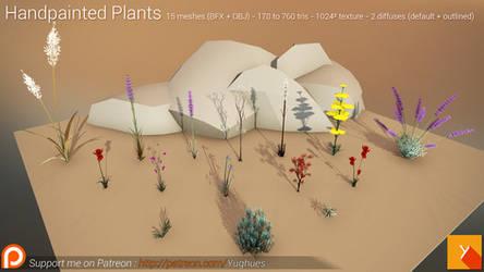 [Free] Handpainted Plants