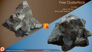 [Free] Photogrammetric Rock - Cluster