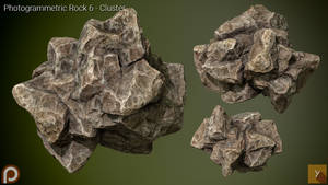 [Free] Photogrammetric Rock 6 - Cluster
