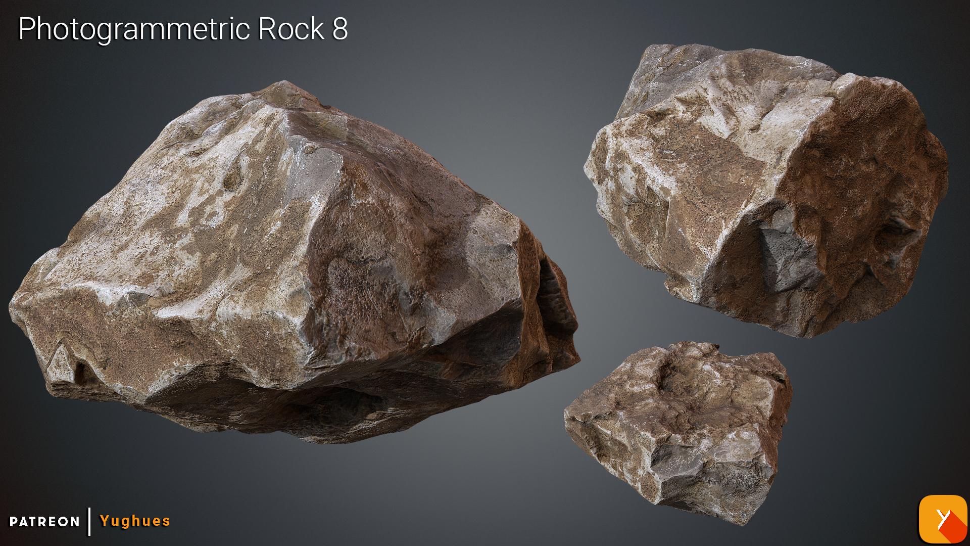 [Free] Photogrammetric Rock 8 by Yughues
