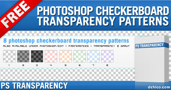 Photoshop Transparency Pattern by DesignFathoms