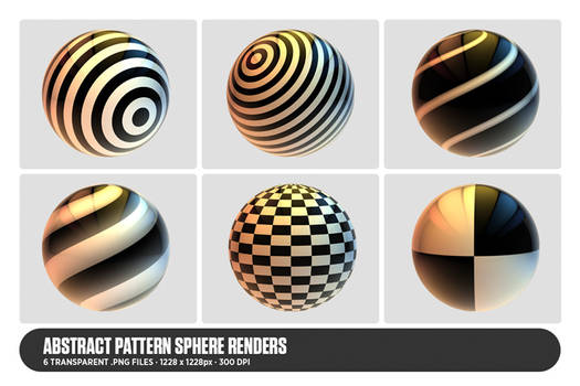 Abstract Pattern Sphere Renders