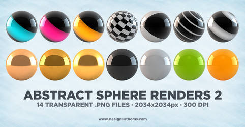 Abstract Sphere Renders 2