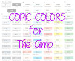 Copic Colors for the Gimp