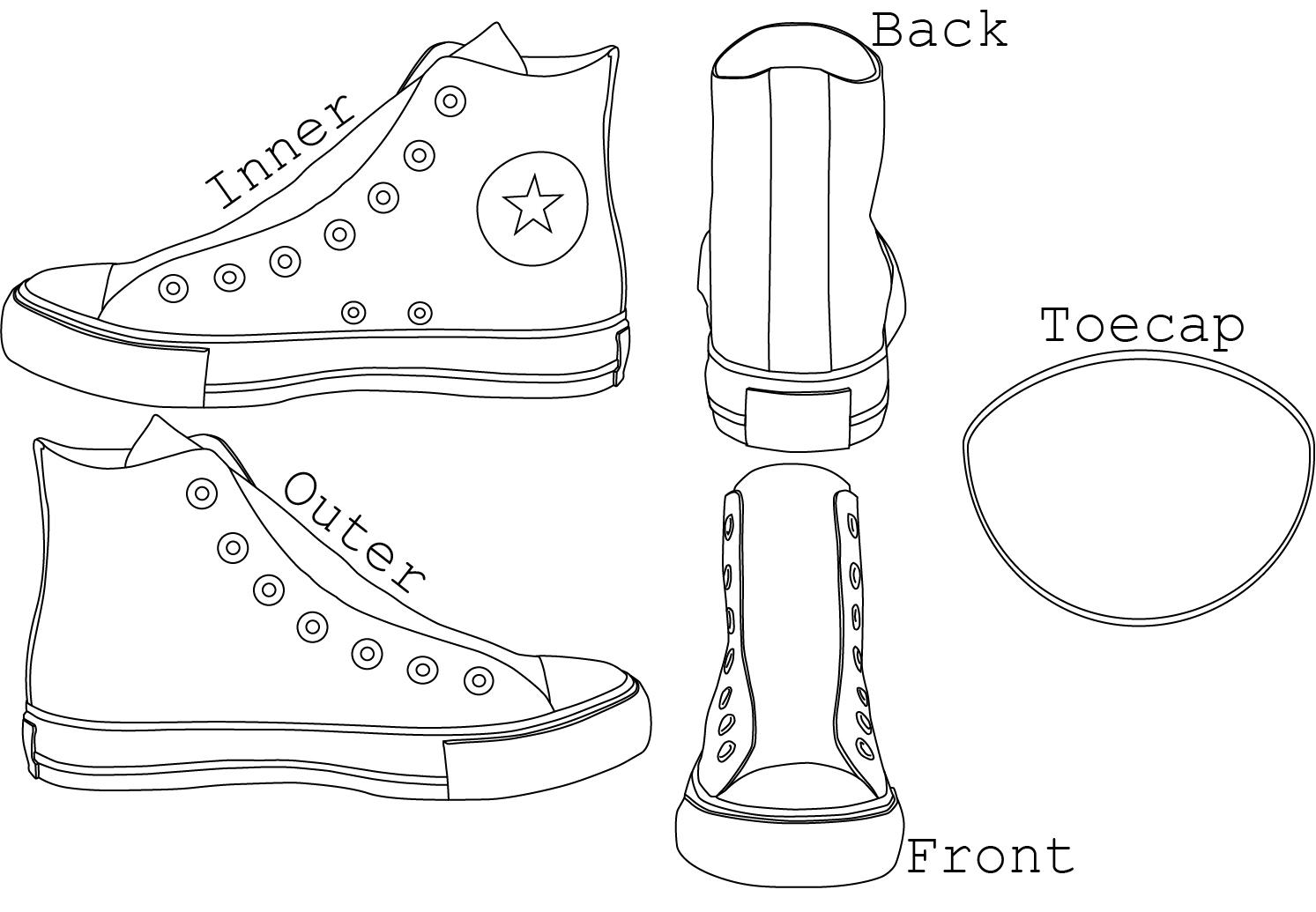 Vector Drawing Lines Worksheet : Chuck taylor s high tops template by alexchastain on