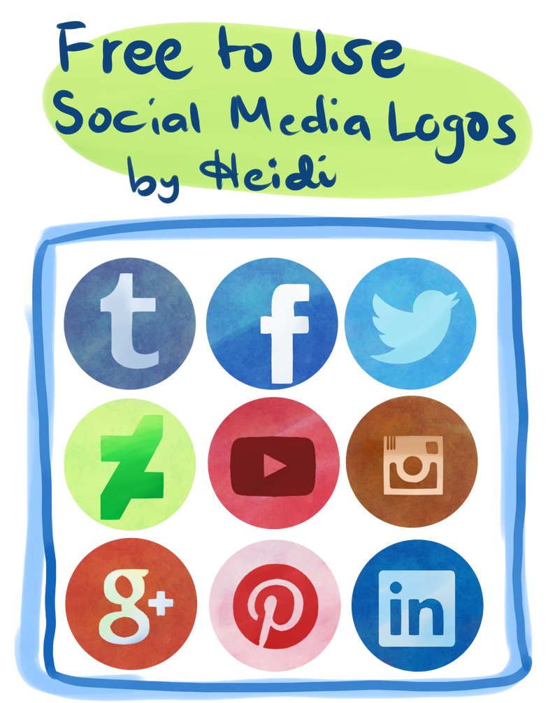 Heidis Free To Use Social Media Logos Set  By Heidi Rodis