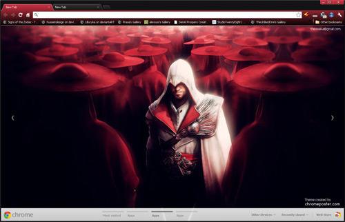 assassins creed brotherhood google chrome theme by vrkm2003 on