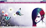 Vector Girl With Butterfly Chrome Theme by vrkm2003