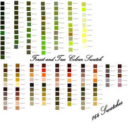 Forest Photoshop CS Swatches by axilya