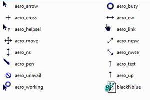 Black N Blue Aero Cursor Theme by mrburns05