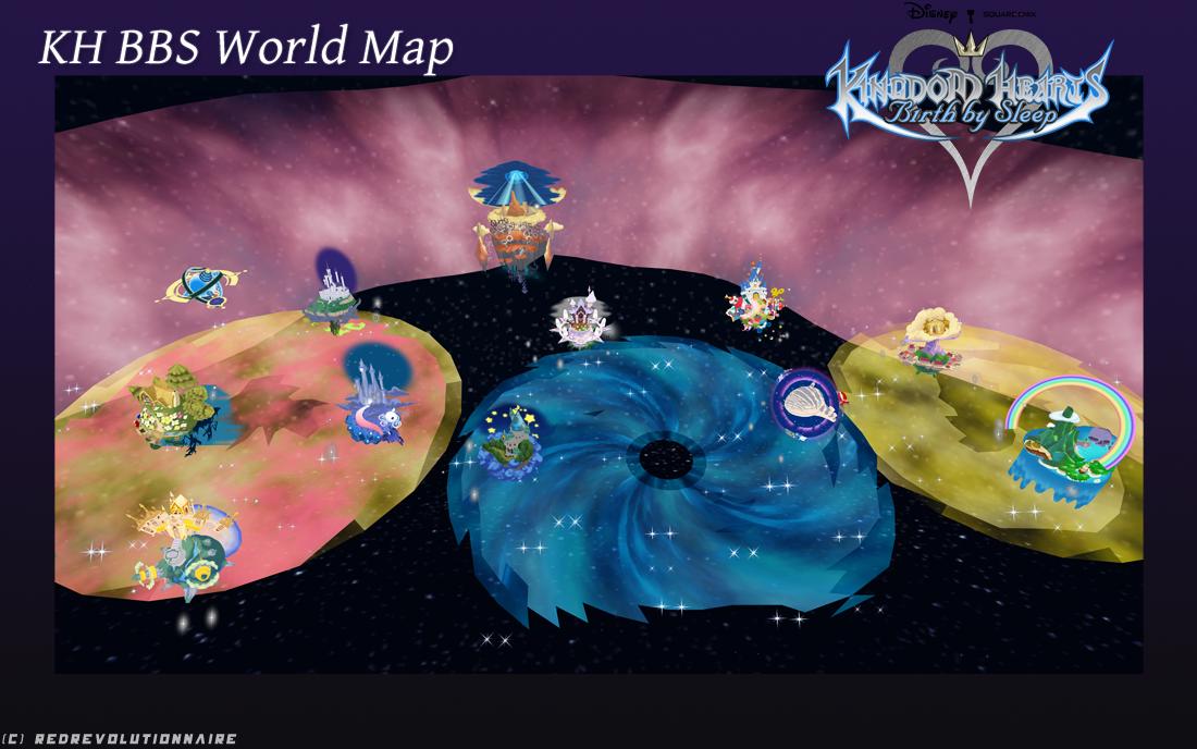 Birth By Sleep World Map