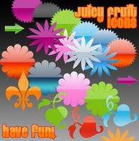 Juicy Fruit Icons by gojol23