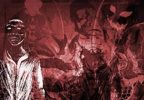 Skulls, bats, devils brush set by gojol23