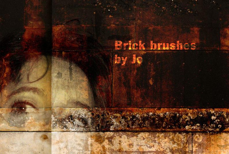 Grunge Brick Phtotshop Brushes by gojol23