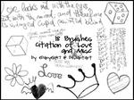 Brushes Love and Misc by EDanyela47