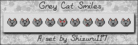 Grey Cats Smiles by Shizuru117