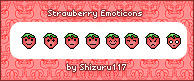 Strawberry Emoticons by Shizuru117