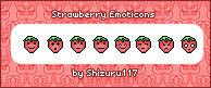 Strawberry Emoticons by Shizuru117