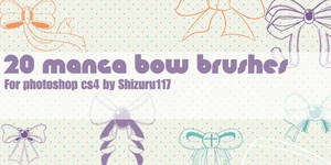 20 manga bow brushes