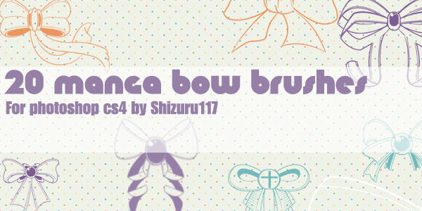20 manga bow brushes by Shizuru117