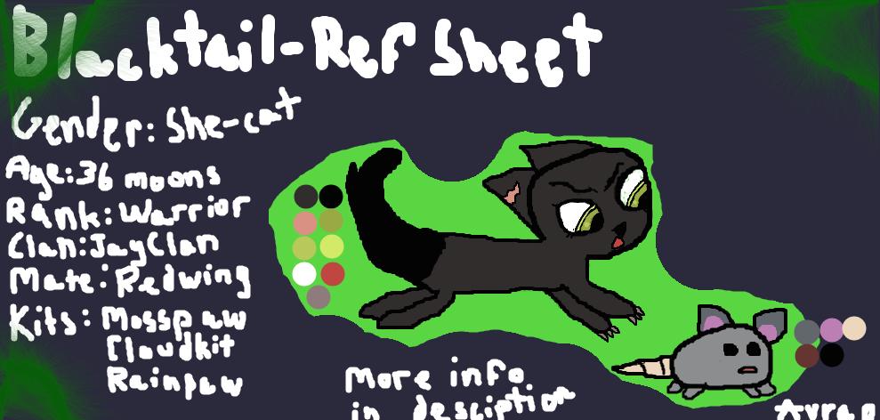Blacktail-Ref Sheet by Avraplikesstuff
