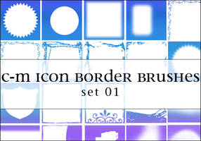 C-M Icon Brush Set 001 by crowned-meadow