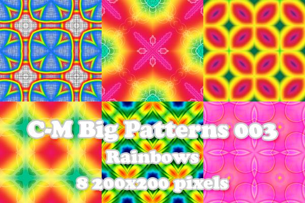 C-M Big Patterns 003 - Rainbow