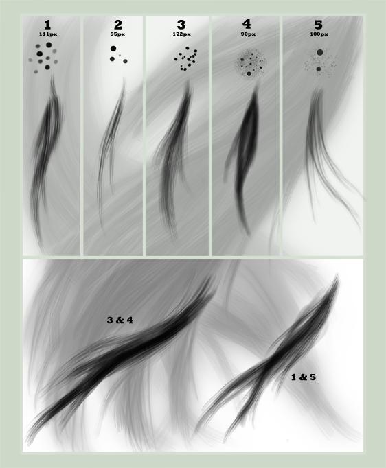 Hair brush set by para-vine